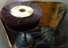 Shoemaker Old Ancient Brush  Machine .Photography Colette H Guggenheim