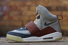 """Ostrich & Denim"" Air Yeezy 1 Custom by JBF - EU Kicks: Sneaker Magazine"