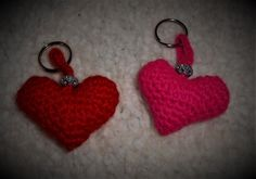 Amigurumi Heart Key-Chain Free pattern used: http://owlishly.typepad.com/owlishly/2009/02/corazoncitos-free-amigurumi-heart-pattern-in-3-sizes.html