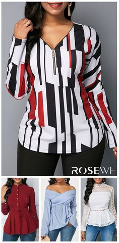 Blouses For Women Trendy Tops For Women, Blouses For Women, Blouse Styles, Blouse Designs, Classy Outfits, Chic Outfits, Fall Fashion Outfits, Womens Fashion, Casual Chic Summer