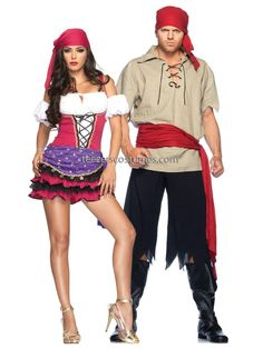 Gypsy Couples Adult Halloween Costume, Gypsy Couples Costumes
