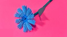 How to make a cornflower knapweed 3D origami (in the technique of modula...
