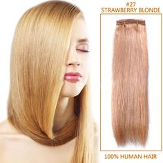 #27 Strawberry Blonde Straight Indian Remy Hair Wefts #weft