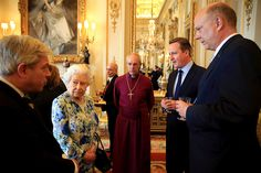 The Queen's comments come after David Cameron said he had 'fantastically corrupt countries' coming to London for key summit while chatting to the Queen and Archbishop of Canterbury at a Buckingham Palace event on Tuesday John Bercow, Defender Of The Faith, News In Nigeria, Rare Images, David Cameron, Black N White Images, Buckingham Palace, Queen Elizabeth Ii, Latest Pics