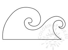 ocean wave pattern use the printable outline for crafts creating