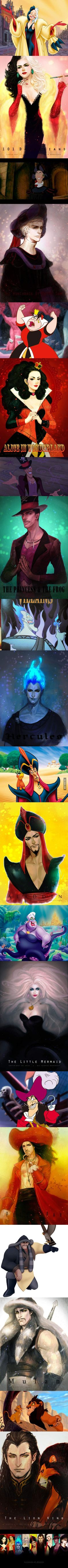 If Our Favorite Disney Villains Were Drop Dead Gorgeous<--- yeessssss, Jafar!