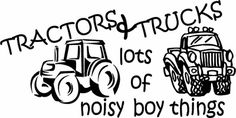Tractors and Trucks! What goes better in a little boy's bedroom?!