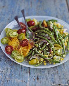 Green Bean, Corn, and Tomato Salad - Vegan