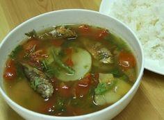 Kangsoi boil vegetables with  dry fish