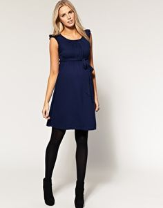 Enlarge ASOS Maternity Exclusive Belted Dress With Scoop Neck