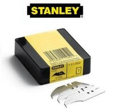 100 x Original Stanley Heavy Duty Concave Trimming Knife Blades, 2 notch, 2 hole, Stanley 5192 Concave, Hand Tools, Blade, The 100, The Originals, Llamas
