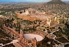 Theatre of Dionysus and the restored Odeon of Herodes Atticus, a superb theatre which hosts open-air performances of the Hellenic Festival and August Full Moon Festival.