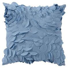 Pretty Petals Pillow, 14 x 14, Dusty Blue