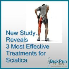 Pain Remedies NEW Study Reveals 3 Most Effective Sciatica Pain Relief Treatments. Sciatic Nerve Relief, Sciatica Pain Treatment, Sciatica Symptoms, Sciatica Exercises, Sciatic Pain, Back Pain Exercises, Sciatica Massage, Physical Therapy, Tips