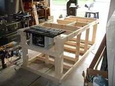 Image result for cut off saw table plans