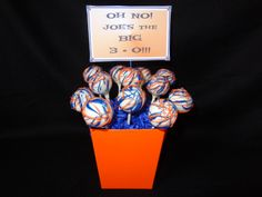 Detroit Tiger's themed Cake Pops for my nephew's 30th birthday