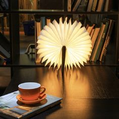 Shark Tank Book Light Simple Innovative Usb Rechargeable Led Foldable Wooden Book Shape Desk Lamp Inspiration
