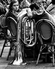 The tuba ... by Christer Westerlund B&W