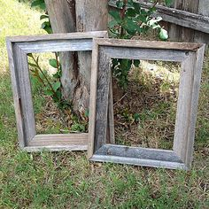 8 x 10 Open back barnwood frames (set of 3)