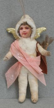 Lucy Webber's Cotton Batting Ornaments, cupid