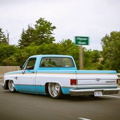 1984 C10 SWB Chevrolet. maybe try this with the black n blue paint