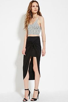Contemporary Knotted Midi Skirt | Forever 21 - 2000150792