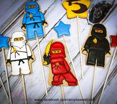 Ninjago Cookie toppers | Cookie Connection