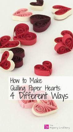 How to Make Quilling Paper Hearts : 4 Different Ways! - The Papery CrafteryLearn to simple steps on how to make quilling paper swirls, the easiest way to add loads of dynamic elegance to your quilling paper crafts!Quilling and Other Fun Paper Things Neli Quilling, Quilling Jewelry, Diy Quilling Crafts, Paper Quilling Flowers, Paper Quilling Cards, Origami And Quilling, Paper Quilling Patterns, Quilled Roses, Quilling Comb