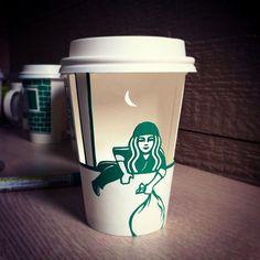 Starbucks cup art created by Soo Min Kim! - Starbucks cup art created by Soo Min Kim! Logo Starbucks, Starbucks Coffee Cups, Coffee Cup Art, Custom Starbucks Cup, Starbucks Cup Drawing, Web Development Tools, Diy Outdoor Fireplace, Creative Food Art, Middle School Art