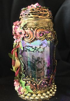 Excited to share this item from my #etsy shop: Handmade silhouette 8 inch beautiful fairy jar . Enchanted Fairies, Fantasy Gifts, Fairy Jars, Beautiful Fairies, Jar Lights, Vintage Looks, Pixie, Handmade, Silhouette