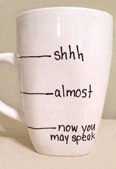 Now you may speak! A cheeky little mug this one. I need it!