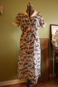 1930s House Dress by The Clever Little Foxes, via Flickr