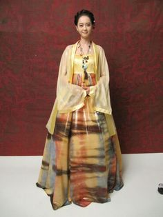 Modern hanbok with new hairstyle