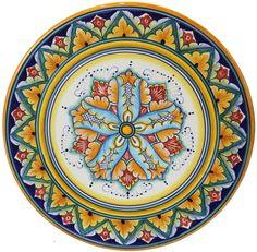 Deruta plate. I have been in the Deruta Museum for Ceramics. Umbria, Italy.