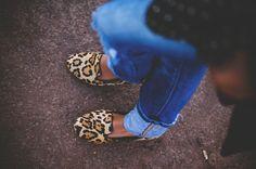 Steve Madden leopard slippers