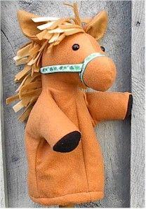 horse handpuppet pattern