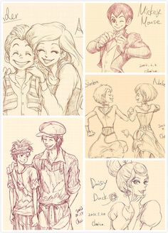 Humanized Disney Characters (For people who don't know, in the lower left corner is Goofy and Max)
