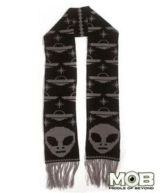 Alien UFO Knit Scarf – Middle of Beyond $29.99