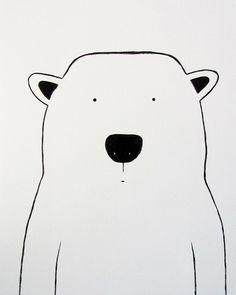 polar bear wall art kids - Google Search