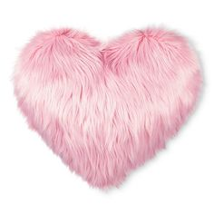 "Valentine's Heart Oversized Faux Fur Throw Pillow Pink (25""X21"") : Target"
