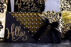 The new Black and Gold range from Sara Davies is pure elegance! #crafterscompanion