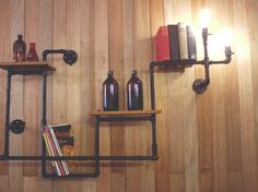 Pipe Shelving 2:  now wouldn't this be cool in a bathroom?