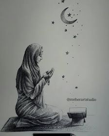 Prayer by Meher Beautiful Pencil Drawings, Abstract Pencil Drawings, Black Pen Sketches, Girl Drawing Sketches, Small Colorful Tattoos, Small Tattoos, Small Inspirational Tattoos, Ballpoint Pen Drawing, Elephant Tattoo Design