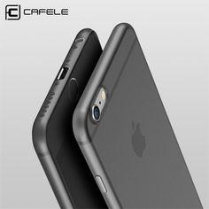 Cafeleオリジナル電話ケースのためのiphone 6ケース超薄型ppカバーのためのapple iphone 6 plusケースファッション柔軟性バックシェル