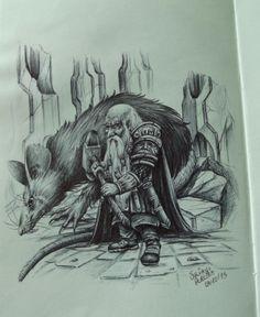 dwarf Work done with Bic pen.