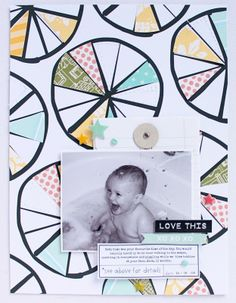 #papercraft #scrapbook #layout. XO by emma_kw at @Studio_Calico