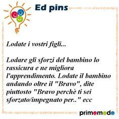L'educazione in un pin - Consigli per genitori ed educatori  www.primomodo.com