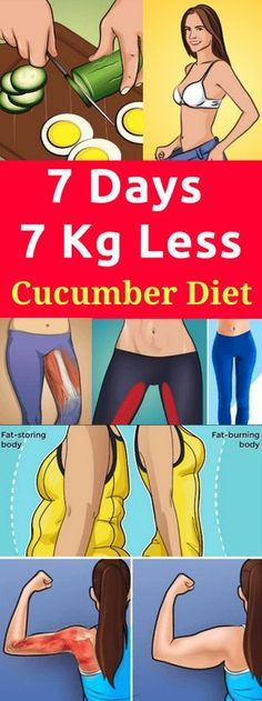 7 Days 7 Days 7 KG Less with Cucumber Diet. Cucumbers are the perfect diet food; they have virtually no calories but are rich in important nutrients vitamins and minerals like magnesium calcium iron Yoga Fitness, Fitness Goals, Low Fat Diets, Body Detox, Body Cleanse, Juice Cleanse, Healthy Vegetables, Health Advice, Best Diets
