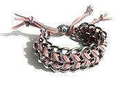 Gunmetal Chevron chunky chain bracelet pastel fashion