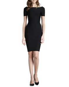 Boat-Neck+Bandage+Dress+by+Herve+Leger+at+Neiman+Marcus.